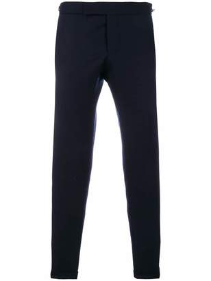 Thom Browne Seamed Elastic Stripe Skinny Wool Trouser