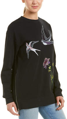 Eight Dreams Ei8ht Dreams Embroidered Sweatshirt Tunic