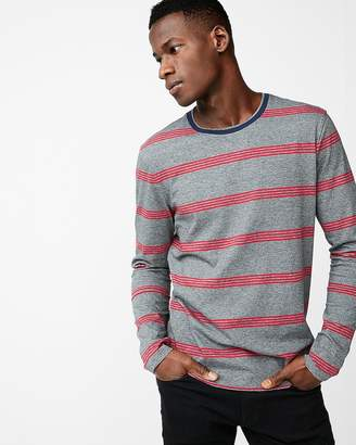 Express Mini Stripe Crew Neck Tee