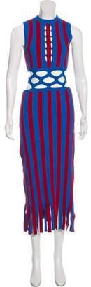 Derek Lam Sleeveless Cutout-Accented Dress