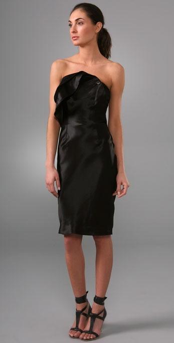 Rachel Roy Strapless Tailored Petal Dress