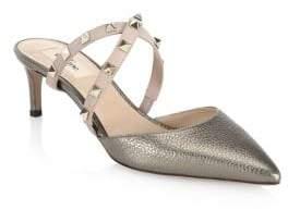 Valentino Studwrap Leather Mule Sandals