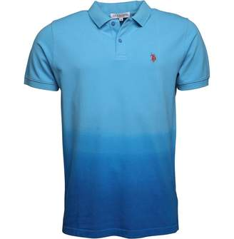 U.S. Polo Assn. Mens Campbell Polo Ethereal Blue/Director Blue