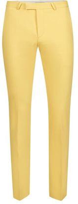 NOOSE & MONKEY Yellow Slim Fit Suit Pants $95 thestylecure.com
