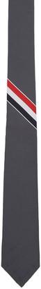 Thom Browne Grey Classic Stripe Tie $215 thestylecure.com