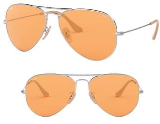 Ray-Ban Evolve 55mm Photochromic Aviator Sunglasses
