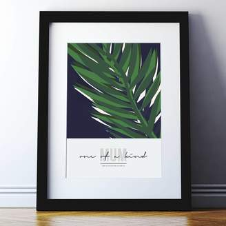 Spin Collective Personalised Mothers Day Abstract Leaf Print