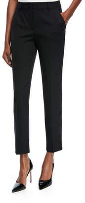 Dolce & Gabbana Classic Slim-Leg Ankle Pants, Black