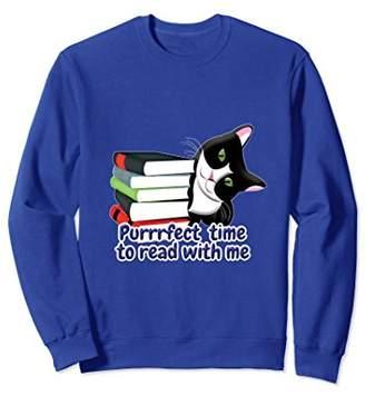 Go Kewl Graphics Book Reader Cat Sweatshirt