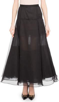 Olivier Theyskens Long Organza Skirt