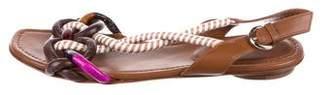 Sergio Rossi Striped Slingback Sandals
