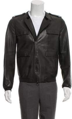 Lanvin Leather Utility Jacket
