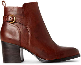 Lauren Ralph Lauren Tan Ginelle Leather Ankle Booties