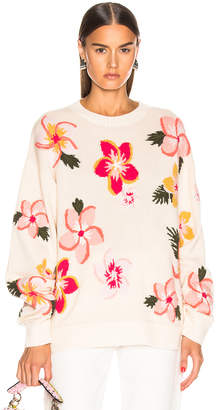 Alanui Floral Sweater in White | FWRD