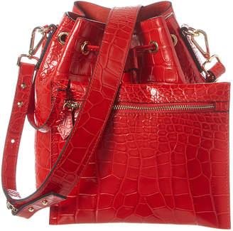 Mario Valentino Valentino By Honorine Croc-Embossed Leather Bucket Bag