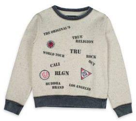 True Religion Boy's Stamp Sweatshirt $69 thestylecure.com