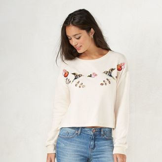 Disney's Snow White a Collection by LC Lauren Conrad French Terry Crop Sweatshirt - Women's $48 thestylecure.com