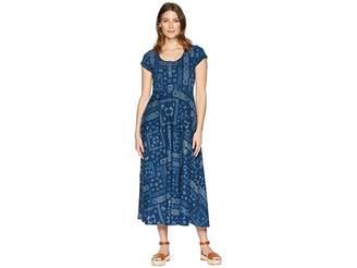 Chaps Short Sleeve Bandanna Cotton Jersey Maxi Dress