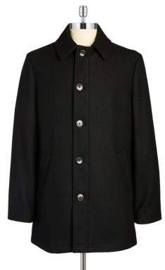 Lauren Ralph Lauren Wool-Blend Button Topcoat
