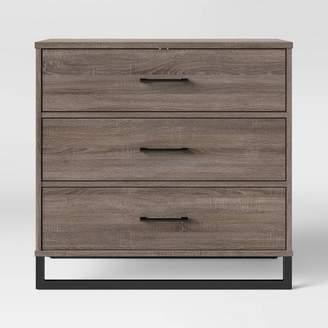 Room Essentials Mixed Material 3 Drawer Dresser Medium Brown