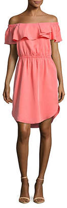 Halston H Off-The-Shoulder Dress