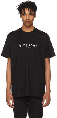 Givenchy Black Oversized Vintage Logo T-Shirt