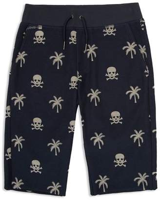 Hudson Boys' Palm Tree & Skull Print Shorts - Little Kid, Big Kid