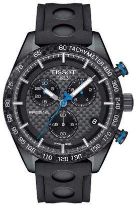 Men's Tissot Prs516 Chronograph Rubber Strap Watch, 42Mm $625 thestylecure.com