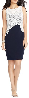 Lauren Ralph Lauren Lace Bodice Dress $194 thestylecure.com