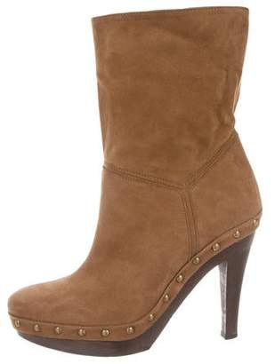 Stella McCartney Vegan Suede Platform Ankle Boots