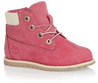 Timberland Boots Pokey Pine 6in Side Zip Boots - Pink Nubuck