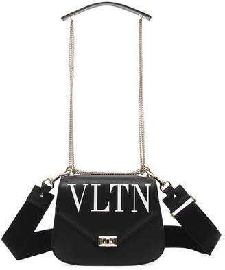 Valentino VLTN Smooth Leather Chain Shoulder Bag