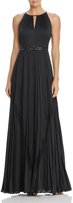 Adrianna Papell Embellished-Waist Pleated Gown $279 thestylecure.com