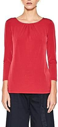 Esprit Women's 997eo1k805 Long Sleeve Top, (Red 630)