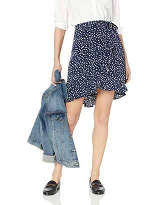 J.Crew Mercantile Women's Tie Waist Dot Printed Ruffle Wrap Mini Skirt