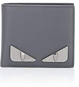 Fendi Men s Bag Bugs Leather Billfold - Gray a7cbfb48ab86f