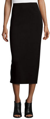 Eileen Fisher Washable Silk/Cotton Midi Pencil Skirt $218 thestylecure.com