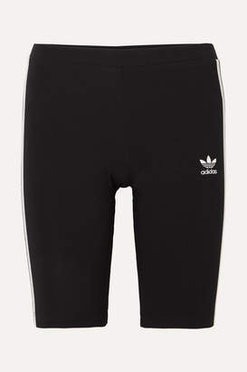 adidas Striped Stretch-cotton Jersey Shorts