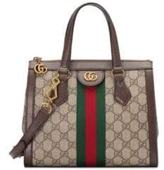 Gucci Women's Small Ophida Tote - Beige Chocolate