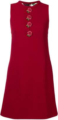 Dolce & Gabbana floral button A-line dress