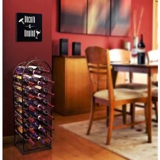 Sorbus Bordeaux Chateau Wine Rack, Holds 23 Bottles, Bronze