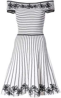 Zac Posen Becca floral and striped skater dress