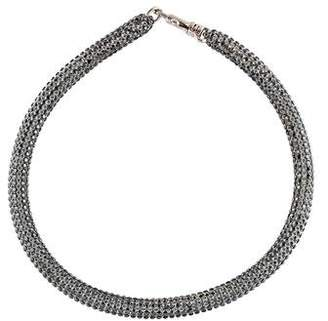 Christopher Kane Atelier Swarovski Crystal Slim Bolster Necklace