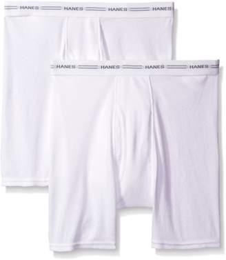 0147f1941b3a Hanes Men's 2 Pack Tagless Boxer Briefs with Comfort Flex Waistband