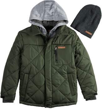 ZeroXposur Boys 8-20ZeroXposur Kylo Quilted Jacket & Hat