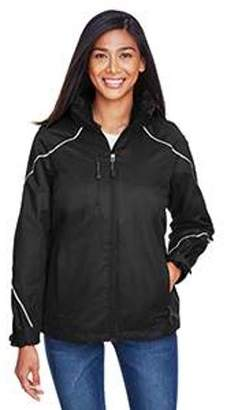 Ash City - North End Ladies' Angle 3-in-1 Jacket with Bonded Fleece Liner - BLACK 703 - S 78196