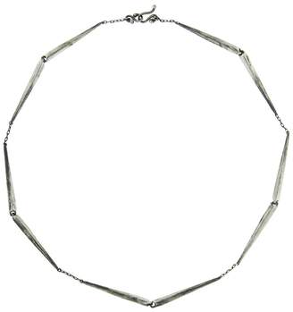 Ten Thousand Things Long Heavy Taper Link Choker Necklace - Sterling Silver