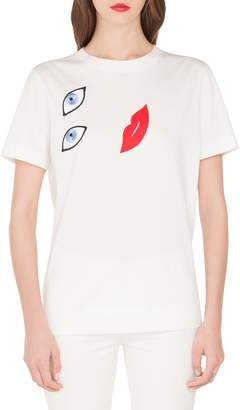 Akris Embroidered Portrait Crewneck Tee
