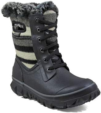 Bogs Outdoor Boots Womens Arcata Stripe Wool 7 M Black Multi 72105
