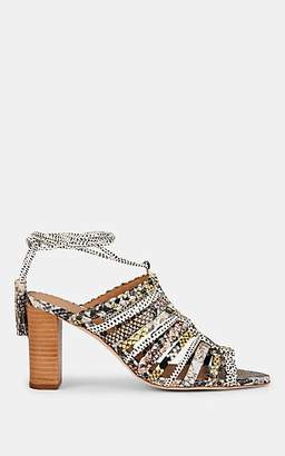 Ulla Johnson Women's Rayna Python-Print Leather Sandals - Beige, Tan